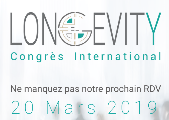 Logo Longevity Congrès International 20 mars 2019 Bordeaux